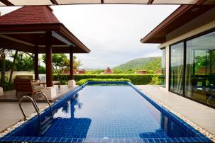 3 Bedrooms Bali Style Sea View Pool Villa near Sai Noi Beach  ( Resell )