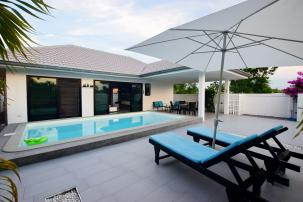 Nice & Cozy 2 Bedrooms Pool Villa on the way to Pranburi (completed, fully furnished)