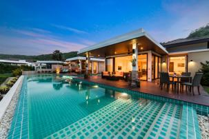 Twin Executive Villa with 5 Bedroom +  2 Livingroom Sea View, Near Sai Noi Beach