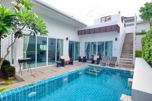 Modern 2 Bedrooms Pool Villa with Rooftop Terrace Near Sai Noi Beach (Resell)